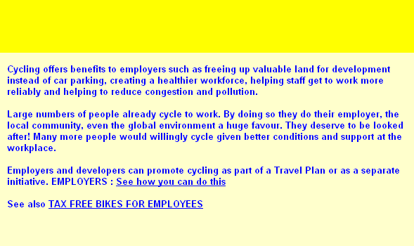 CYCLING INFORMATION