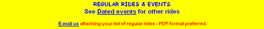 REGULAR RIDES & EVENTS